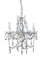 the original gypsy color 4 light small shabby chic crystal chandelier