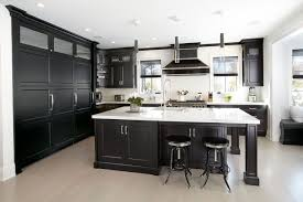 Signature Custom Cabinets Black Cabinets Look Stunning In This Manhasset Kitchen Kitchen