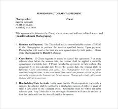 Photography Contracts Wedding Contract Templates Free Sample Forms ...