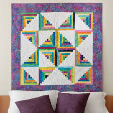 Log Cabin Quilt Patterns Custom GO Scrappy Star Log Cabin Quilt Pattern AccuQuilt AccuQuilt