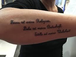 Tattoo Spruch Unterarm Sprüche Leben Tattoo Gute Bilder