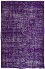 over dyed anatolian vintage rug