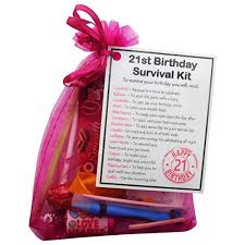 smile gifts uk 21st birthday gift unique survival kit hot pink 21st