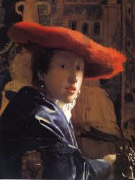 girl a red hat by johannes vermeer