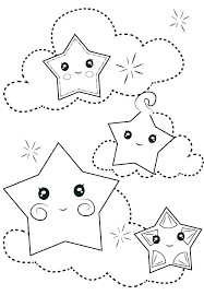 stars coloring page. Interesting Stars Glamorous Shooting Star Coloring Page Of Stars  Pages Moon  Intended Stars Coloring Page L