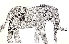 Elephant Pattern Awesome Elephant Pattern Drawing By Shugglebird On DeviantArt