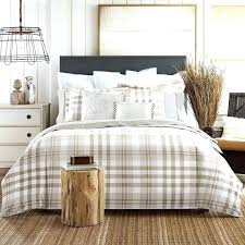 grey plaid comforter plaid comforter sets with combination of soft browns and whites this flannel king