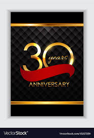 Anniversary Template Template 30 Years Anniversary Congratulations Vector Image