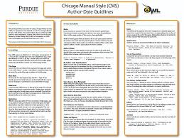 purdue owl chicago manual of style th edition purdue owl cms author date classroom poster