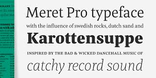 Newspaper Fonts Meret Pro Typetoken