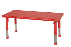 Rectangle Resin Adjustable Activity Table eSpecial Needs
