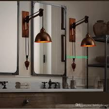 2018 Bathroom Wall Lamps Vintage Industrial Lighting Coffee Shop Retro  Light Sconces Bar Rustic Spindle Pulley Lamp From Britlighting, ...