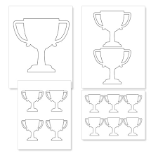 printable trophy templates free printable trophy template printable treats com on bunting template to print