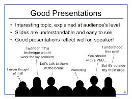 presentation guide  51 good presentations • interesting topic