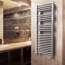 Hot water towel radiator / electric / steel / chrome - SPACE