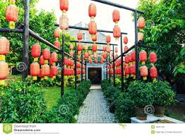 Asian Chinese Red Lantern China Paper Lamp Outdoor Light