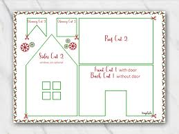 christmas house template gingerbread house templates for free temploola