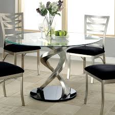 furniture of america sparling 5 piece dining table set with spiraling base the sleek and stylish furniture of america sparling 5 piece dining table set