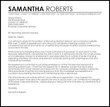 Collection Of Solutions Recruiting Assistant Cover Letter Sample