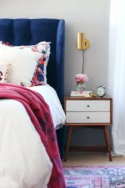 Hot Pink Tufted Headboard Fall Home Tour Velvet: Large Size ...