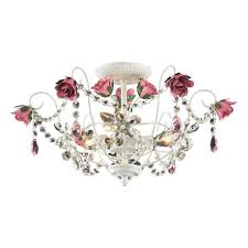 enchanting girls room chandelier wallpops white iron wth crystal chandeliers and pink flowers leaf candle lamp