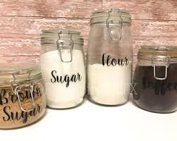 Kitchen Canister Labels/Kitchen Canister Decals/Kitchen Canisters/Canister  Set Labels/Pantry