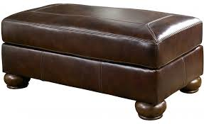 ashley furniture ash 4200014 casual leather living room ottomans brown