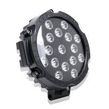 Marine Lights 51w 3500lm 6500k White Light 17 Led Waterproof Car Boat Marine Work Lights Spotlight Led Bulbs 30 Degrees Adjustable Dc 10 30v Black