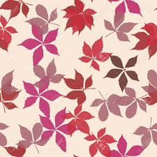 Creeper Design Patterns Seamless Pattern With Falling Leaves Background With Autumn