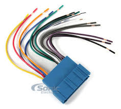 scosche gm03b select 1992 up gm wire harness sonic electronix stereo wiring harness color codes at Snap On Wire Harness Adapter