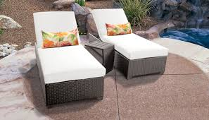 sail white belle chaise set of 2 outdoor wicker patio furniture with side table