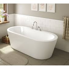 ae bath and shower una  inch acrylic oval freestanding bathtub