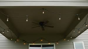 how to hang outdoor string lights on