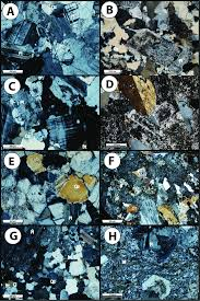 Thin Section Images In Xpl Of Characteristic Samples Showing