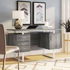 Image Ideas Wayfair Ivy Bronx Conlon Modern Office Desk Reviews Wayfair