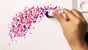 easy flower painting technique for