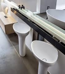 drop pedestal twin basins