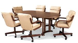 dining room chairs with wheels. Exellent Dining Wonderful Dining Room Table And Chairs With Wheels Dinettes Furniture  Tables Matching Chair Sets Dinette C  Intended Dining Room Chairs With Wheels _