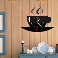 room wall clock on on