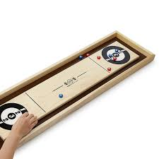 Wooden Table Top Games Tabletop Shuffle Board wooden tabletop game UncommonGoods 2