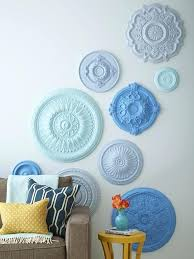 ceiling medallions used as wall art