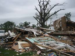 Home distroyed by a tornado