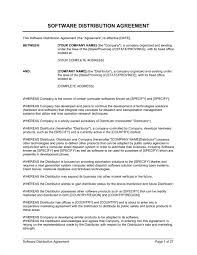 Software Distribution Agreement Form Template Word Pdf By