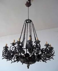kitchen attractive vintage wrought iron chandelier 0 black hung in the white ceiling attractive vintage wrought