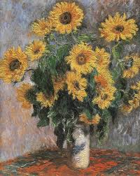 hand made reion sunflower by claude monet famous oil painting on canvas handpainted flower paintings for