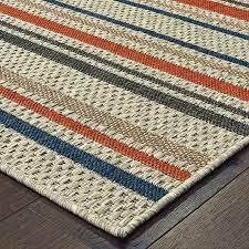 blue orange indoor outdoor area rug