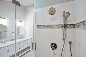Best Bathroom Border Tiles Endearing White Bathroom Tiles With
