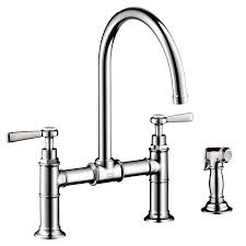 hansgrohe axor kitchen chrome high arc kitchen faucet with side spray no reviews