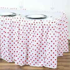 black and white polka dot plastic round tablecloth white red polka dots pleated rectangular disposable waterproof