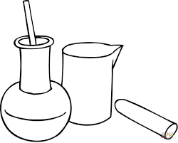 Small Picture Chemistry Beakers coloring page Free Printable Coloring Pages